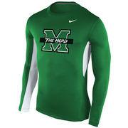 Men's Nike Kelly Green Marshall Thundering Herd Vapor Long Sleeve T-Shirt
