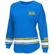 Women's Colosseum Light Blue UCLA Bruins All Around Oversized Long Sleeve T-Shirt