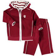 Newborn & Infant Crimson Indiana Hoosiers French Terry Pant & Jacket Sweat Set