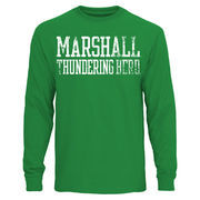 Mens Marshall Thundering Herd Kelly Green Straight Out Long Sleeve T-Shirt