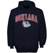 Mens Navy Gonzaga Bulldogs Arch Over Logo Hoodie