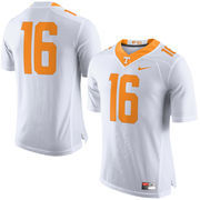 Men's Nike White Tennessee Volunteers No. 16 Limited Football Jersey