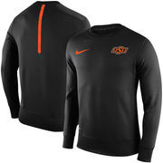 Men's Nike Black Oklahoma State Cowboys Sideline KO Performance Fleece Crew Sweatshirt