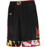 Men's Under Armour Black Maryland Terrapins Replica Basketball Shorts