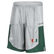 Men's adidas Gray Miami Hurricanes Player Sideline climalite Shorts