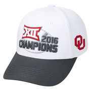 Men's Top of the World White Oklahoma Sooners 2016 Big 12 Football Conference Champions Locker Room Snapback Adjustable Hat