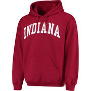 Men's Crimson Indiana Hoosiers Basic Arch Pullover Hoodie