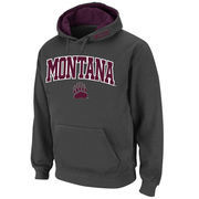 Men's Stadium Athletic Charcoal Montana Grizzlies Arch & Logo Pullover Hoodie