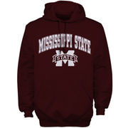 Men's New Agenda Maroon Mississippi State Bulldogs Midsize Arch Over Logo Hoodie