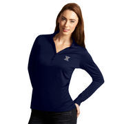 Women's Antigua Navy Xavier Musketeers Exceed Long Sleeve Polo