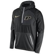 Men's Nike Black Purdue Boilermakers 2016 Sideline Vapor Fly Rush Half-Zip Pullover Jacket