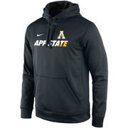 Men's Nike Black/White Appalachian State Mountaineers KO Performance Fleece Pullover Hoodie