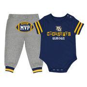 Newborn & Infant Colosseum Navy/Gray Marquette Golden Eagles MVP Bodysuit & Pants Set