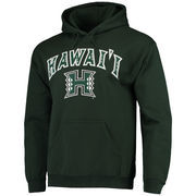 Men's Fanatics Branded Green Hawaii Warriors Campus Pullover Hoodie