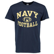 Men's New Agenda Navy Navy Midshipmen Reversal Football T-Shirt