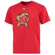 Men's Under Armour Red Maryland Terrapins Logo Tech Performance T-Shirt