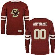 Boston College Eagles Gameday Personalized Name & Number Slub T-Shirt - Maroon