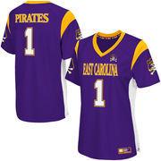 Women's Colosseum Purple East Carolina Pirates Football Jersey