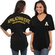 Women's Black Appalachian State Mountaineers Spirit Jersey Oversized T-Shirt