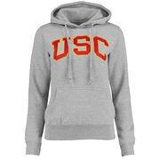Women's Gray USC Trojans Breakwater Pullover Hoodie