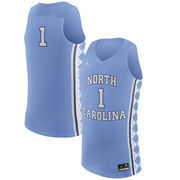 Men's Nike #1 Light Blue North Carolina Tar Heels Replica Basketball Jersey