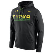 Men's Nike Black Oregon Ducks Circuit Pullover Performance Hoodie