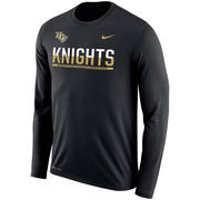 Men's Nike Black UCF Knights 2016 Sideline Legend Logo Dri-FIT Long Sleeve T-Shirt