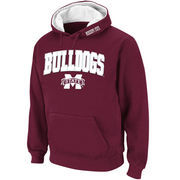 Men's Stadium Athletic Maroon Mississippi State Bulldogs Arch & Logo Pullover Hoodie