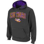 Men's Stadium Athletic Charcoal LSU Tigers Arch & Logo Pullover Hoodie