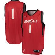 Men's Under Armour 1 Red Cincinnati Bearcats Special Games Basketball Replica Jersey