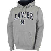 Men's Gray Xavier Musketeers Arch & Logo Pullover Hoodie
