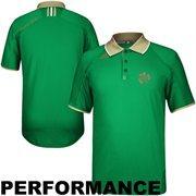 adidas Notre Dame Fighting Irish Sideline Shamrock Polo - Kelly Green
