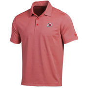 Men's Under Armour Red/Gray Utah Utes Kirkby Performance Polo