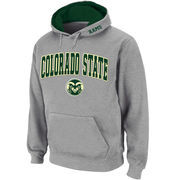 Men's Stadium Athletic Gray Colorado State Rams Arch & Logo Pullover Hoodie