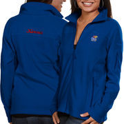 Columbia Kansas Jayhawks Women's Logo Give & Go Fleece Full Zip Jacket - Royal Blue