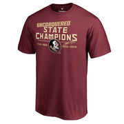 Men's Fanatics Branded Garnet Florida State Seminoles Unconquered State Champs T-Shirt