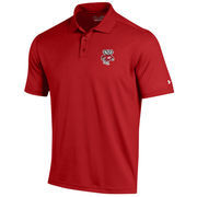 Men's Under Armour Red Wisconsin Badgers Solid Performance Polo