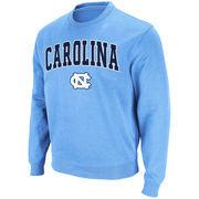 Men's Stadium Athletic Carolina Blue North Carolina Tar Heels Arch & Logo Crew Pullover Sweatshirt