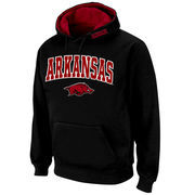 Men's Stadium Athletic Black Arkansas Razorbacks Arch & Logo Pullover Hoodie