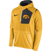 Men's Nike Gold Iowa Hawkeyes 2016 Sideline Vapor Fly Rush Half-Zip Pullover Jacket