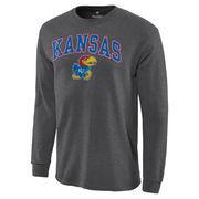 Men's Charcoal Kansas Jayhawks Campus Long Sleeve T-Shirt