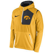 Men's Nike Gold Iowa Hawkeyes 2016 Sideline Vapor Fly Rush Half-Zip Pullover Jacket