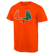 Men's Orange Miami Hurricanes Hometown Collection The U T-Shirt
