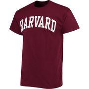 Men's Crimson Harvard Crimson Basic Arch T-Shirt
