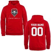 New Mexico Lobos Personalized Football Pullover Hoodie - Cherry