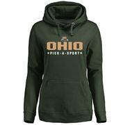 Women's Green Ohio Bobcats Custom Sport Pullover Hoodie
