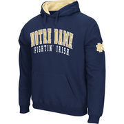 Men's Stadium Athletic Navy Notre Dame Fighting Irish Double Arches Pullover Hoodie