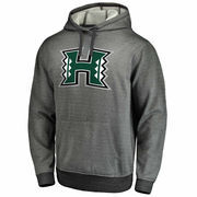 Men's Gray Hawaii Warriors Performance Pullover Hoodie