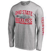 Men's Fanatics Branded Heather Gray Ohio State Buckeyes College Football Playoff 2016 Fiesta Bowl Bound Playbook Long Sleeve T-S
