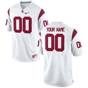 Mens USC Trojans Nike White Custom Replica Football Jersey